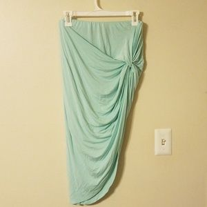 3/$15 Charlotte Russe Mint High Low Jersey Skirt